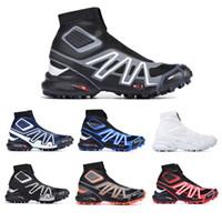 salomon sneakers CS pista de invierno botas para la nieve blanca Negro Volt azul, rojo, rojo calcetín zapatos Zapatos para hombre de la nieve del invierno formadores de arranque
