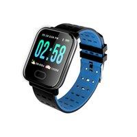A6 ساعة ذكية مع رصد معدل ضربات القلب اللياقة تعقب ضغط الدم سوار للماء ووتش الأساور الذكية