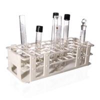 Kunststoff Reagenzglasständer für 25mm Rohre, 24 Well, Weiß, Abnehmbarer (24 Loch)