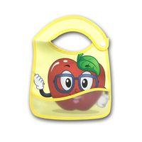 Infantil del bebé baberos paños del Burp Alimentación Anti-sucia a prueba de agua toalla saliva reutilizable fresa PU lindo de la fruta babero mandiles 7 colores E8603