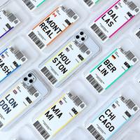 Funda para teléfono de Pase de Boleto de Creatividad para iPhone 12 Pro Max Ultra Thin Protective Protective Funda para iPhone 11 XS 8 7 Plus