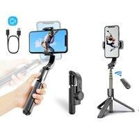 Bluetooth يده gimbal استقرار في الهواء الطلق حامل اللاسلكية selfie عصا قابل للتعديل سيلفي حامل للهاتف ios androd l08