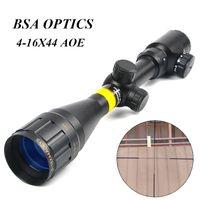 저격 소총에 대한 BSA OPTICS 4-16x44 AOE 조정 전술 광학 시력 녹색 적색 조명 Riflescope 사냥 스코프
