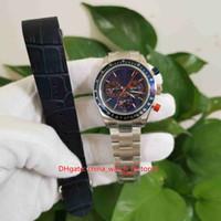 Heiße Gegenstände Top Qualität Blau 40mm Kosmograph 116509 Chronograph Werkin Cal.4130 Uhrwerk Transparente Automatische Herrenuhr Uhren Geschenkband