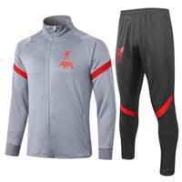 새로운 2020 2021 축구 자켓 스포츠 (20) (21) 남성 + 어린이 재킷 스포츠 크기 S-2XL