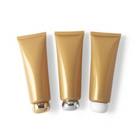 120ml Pearl Gold Soft Tubes Refillable Lotion Squeeze Sub-bottling Cream Empty Hose Colorful Lid Cosmetic Containers 30pcs lot