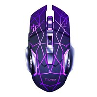 Wireless Mouse Q13 ricaricabile Silenzioso Ergonomico Gaming Mouse 6 Tasti retroilluminazione RGB 2400 DPI per il computer portatile Pro Gamer