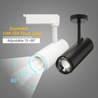 Moderna Zoom 30W ha condotto le luci della pista su rotaia riflettori pannocchia nero spot orientabile a soffitto attenzione riflettori della luce della lampada industriale