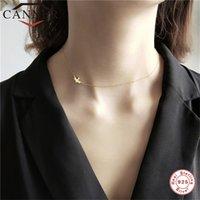Цепи Canner 925 стерлингового серебра Choker Choker простое золото цветное ожерелье цепи цепи ожерелья для женщины элегантно евреи
