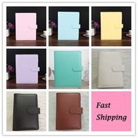 8 ألوان A6 الجلود المفكرة مفكرة الموثق متعدد الوظائف مذكرات الكتيب الدائري قذيفة بسيطة المحمولة المفكرة غطاء القضية