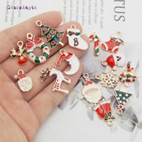 سحر graceangie 15pcs / 15pair عيد الميلاد للمجوهرات صنع عيد الميلاد التمهيد ثلج ندفة الثلج المعلقات هدية