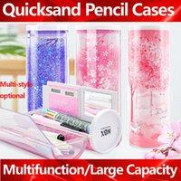 Пенал полупрозрачный Quicksand Пеналы NBX Многофункционального Box Креативная Цилиндрическая Box большая емкость Kid