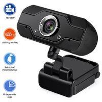 HD Webcam embutido Dual Mics Smart 1080P Web Câmera USB Pro Stream Câmera para Laptops de Desktop PC Game CAM para Windows