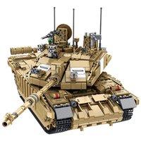 MEOA НОВЫЕ 632008 Военный WW2 серии 1687PCS Challenger II Основной боевой танк Установить строительные блоки Монтаж Военные игрушки кирпичей Boy