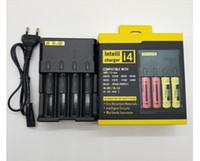 Charger de bateria I4 4-Slot totalmente compatível carregador para bateria de lítio 18650 26650 16340 14500 Nitecore D4 I4
