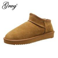 Botas Grwg 100% Natural Ovelha Mulher Mulher Senhora Senhora Quente Ankle Genuine Sheeps Winter Shoes para mulheres