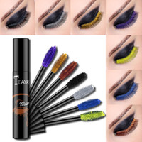Color mascara lengthens thick sapphire blue purple gold bron...