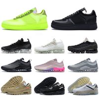 sapatos nike air force 1 forces off white vapormax 97 airmax 90 af1 airforce dunk one tênis de basquete masculino feminino triplo preto 97s 90s tênis clássico