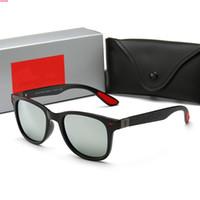 4195 1PCS عالية الجودة نظارات الشمس بينة نظارات شمس مصمم نظارات شمسية رجل إمرأة مصقول أسود نظارات شمس تأتي مع القضية مربع