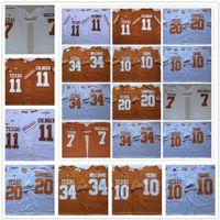 NCAA Texas Longhorns 11 Sam Ehlinger 10 Vince Young 34 Ricky Williams 20 Earl Campbell 7 Shane Buechelecollege Football Jerseys