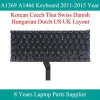 """0,3"""" Dizüstü A1369 A1466 Kore Çek Tay İsviçre Danimarkalı Macar Hollandalı Klavyeler 2011-2020 Yıl Değiştirme için"""