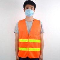 Güvenlik yeleği yüksek görünürlük yansıtıcı şerit trafik yelekleri inşaat bina trafik temizleme işçileri yansıtıcı giyim EWC2765