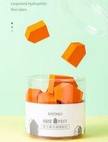 الجملة حزمة البيع بالتجزئة النفخة 15PCS / زجاجة الجمال الإسفنج ماكياج أداة متعددة زاوية خلاط مزج اللون هدايا الشعار الخاص في دعم