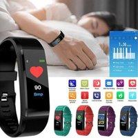 ID115 Plus Schermo colore Smart Orologio Sport Pedometro Smartwatch Esecuzione da passeggio Tracker Frequenza cardiaca Pedometro Smart Band PK M3 F1