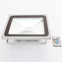 Floodlights 50W IP65 Waterproof RGB Aluminium Alloy LED Flood Lights with Remote Control & Memory (AC 90-260V) Gr-L