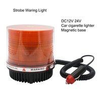 Semaforo 12V-24 V Emergency Flash Strobe Lamp Lampada rotante Avvertimento di sicurezza Scolastica Led Giallo rotondo magnete con soffitto