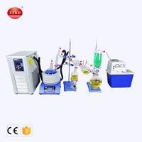 Zzkd lab fornece 2L caminho curto destilação padrão conjunto com bomba de vácuo chiller