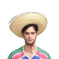 Suministros de paja natural del sombrero mexicano Mini Sombrero Carnaval Crazy Night Fantasía sombreros del partido vestido de Halloween