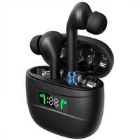 J3 Pro Tws Wireless Headphones Bluetooth Sport Cuffie con Touch Control Bluetooth 5.2 Headphones Display a LED per tutti i telefoni