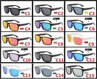 스포츠 편광 된 서명 선글라스 야외 승마 안경 낚시 9102 고품질 안경 UV400 눈 보호 15 색