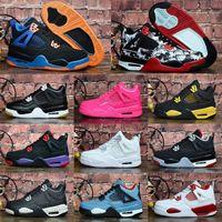 2021 Jumpman 4 Детские баскетбольные туфли Детские спортивные спортсменки Красный Чикаго Мальчик Девочки 4S Спортивные кроссовки 28-35