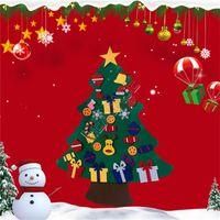 패션 DIY는 3D 크리스마스 트리 장식 어린이 선물 분리 액세서리 장식품 D91402 새 해의 문 벽걸이 펠트