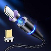Carregador magnética Cabo rápida 3A carregador 3.0 Micro USB Tipo C rápido carregamento para Samsung S20 Nota 10 Magnet Cabos de dados do telefone