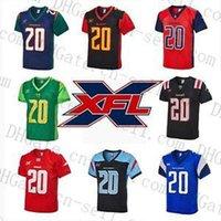 Пользовательский XFL футбол Джерси DC Defenders 12 Кардейл Джонс Головорезы Phillip Walker BattleHawks 10 Taamu 20 Драконов гадюки Рискованных опекунов