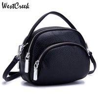 Westcreek Marke Soft-echtes Leder-Frauen-Kurier-Beutel Weibliche Dame-Schulter-Umhängetaschen Kleine Handtasche Shell-Form