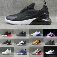 nike air max 270  신발을 프랑스 남성 여성 플레어 배 검은 색 운동화 아웃 도어 신발 중간 올리브 브루스 리는 36-45 운동화 2 별 실행 2020 최신 27C의 청록