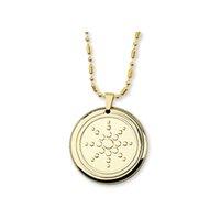 Collares colgantes Sunflower Protección de EMF CUANTUM Energía Collar con 3 piedras de salud Moda Joyería de acero inoxidable para mujeres Hombres
