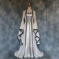Halloween Kleid Mittelalterliche Kunst Retro Kleid Abendkleider Vintage Ballkleid Burgund Prom Kleider Party Kleid Roben De Soiree Auf Lager