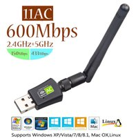 Kostenloser Treiber USB WiFi-Adapter 600Mbps Dual Band 5 GHz 2,4 GHz RTL8811CU mit 2 dBi externer Antenne Wireless Receiver-Netzwerkkarte