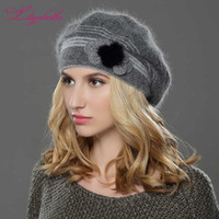 LILIYABAIHE NEW Style Women winter hat knitted wool angora b...