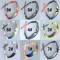 MOQ = 10pcs été pêche sportive Lunettes de soleil pour hommes Lunettes de soleil demi-cadre de conduite des femmes Goggle Lunettes Lunettes Vélo