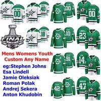2020 Stanley Cup Final Dallas Stars Hockey Jersey Miro Heiskanen Jersey Stephen Johns Esa Lindell Jamie Oleksiak Roman Polak personalizado costurado