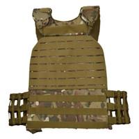 MOLLE tattico portante del piatto della maglia Combat Training Body Armor Vest Army Chest Rig Assalto Armatura per gli uomini / donne