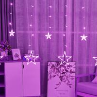 O casamento do Natal 110V 220V Led Cordas em Flash Estrelas Cortina Luzes Lamp Bar Loja Outdoor Indoor Waterproof Casa Decorações Lâmpada Luzes