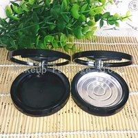 Хранение бутылки JARS 30 шт. Пустой Blush / Eyeshadow / Круглый Компактный корпус Контейнер с алюминиевыми пластинами Паллет и зеркало DIY Makeup Tool