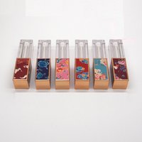 3,5 ml Videz Lip Gloss Tubes en plastique mélange de couleurs 3D carrée style chinois cosmétique Contenant à remplissages Lip Gloss Conteneurs